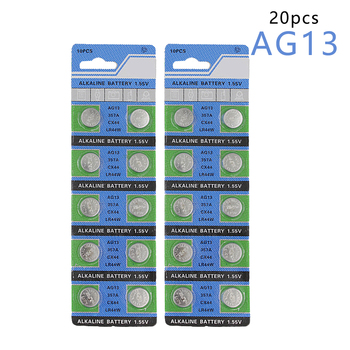 2*10pcs/pack AG13 LR44 357 Button Batteries R44 A76 SR1154 LR1154 Cell Coin Alkaline Battery 1.55V G13 For Watch Toys Remote цена 2017