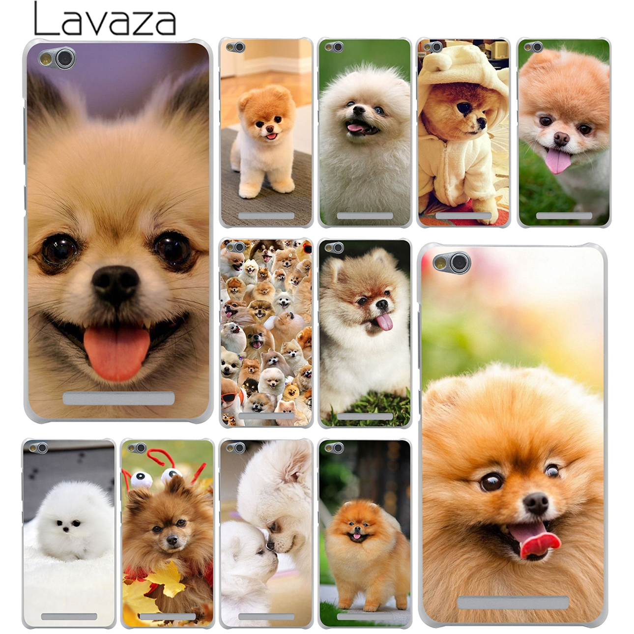 342556100 Lavaza كلب صغير طويل الشعر الكلاب الصلب الهاتف قذيفة حالة ل شياو mi mi  الأحمر mi S2 6A 4A زائد ملاحظة 7 5 4 4X6 برو 5A رئيس غطاء