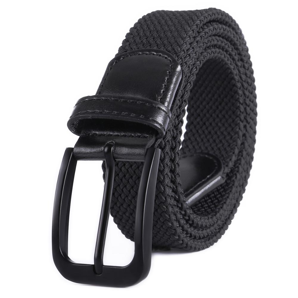Braided Canvas Woven Elastic Stretch Belts for Men//Women//Junior with Multicolored