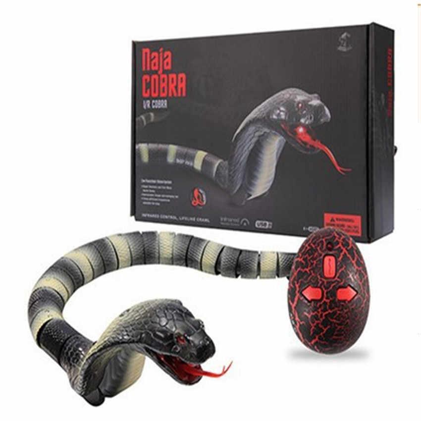 Hot bán New Blue Grey Vui mô phỏng Con Rắn Cobra Đồ Chơi Không Dây RC Rắn Đồ Chơi Vật Điều Khiển Từ Xa Cho bé đồ chơi miễn phí vận chuyển