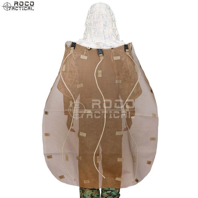 US $18.0 20% OFF|ROCOTACTICAL Ghillie Cape für Ghillie Anzug Kapuze Abnehmbare Sniper Ghillie Anzüge Kap zu Abdeckung Rucksäcke Camouflage Gewehr Wrap