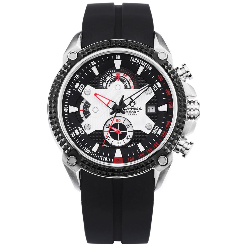 Luxury Brand watches men Sport Fashion Elegent table mens quartz watch silicone strap luminous waterproof 100m  CASIMA #8207 2015 new brand female elegent style 100