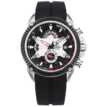 Marque de luxe montres hommes Sport De Mode Elegent table mens quartz montre bracelet en silicone lumineux étanche 100 m CASIMA #8207