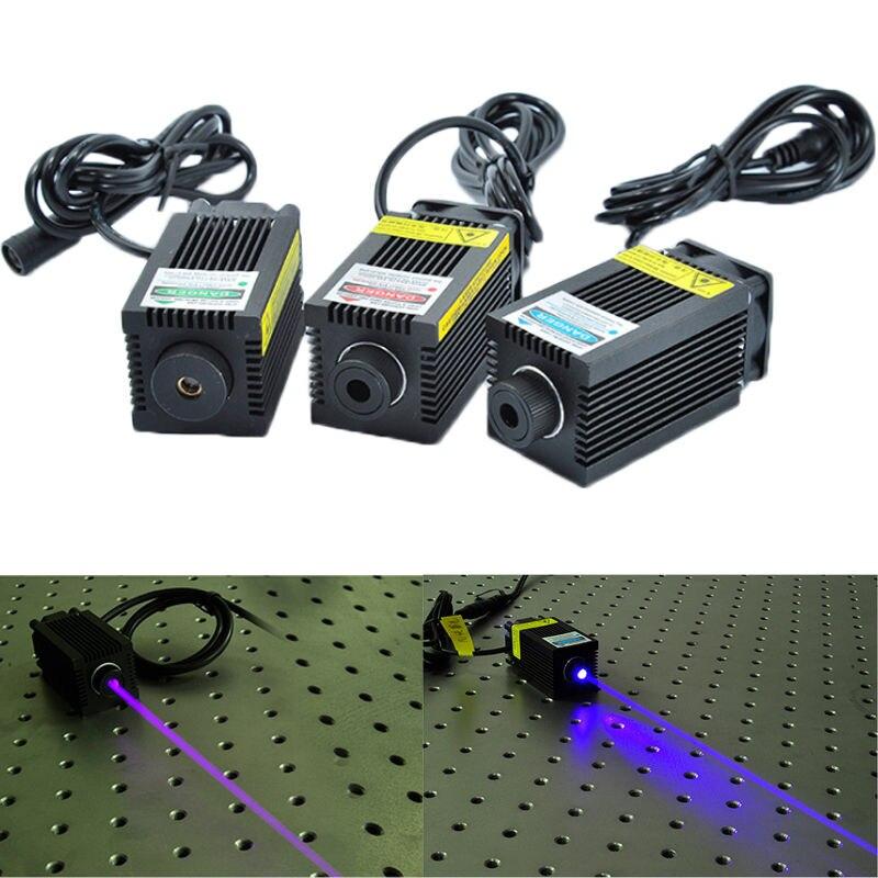 Laser Module 12V 405nm 450nm 500mW 1000mW 1600mW Blue Violet Blue dot Laser Diode + Glasses for Marking Engraving Machine sony 405nm violet blue cw 150mw laser diode ld sld3236vf to18 5 6mm