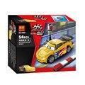 Bela  Cartoon Cars Jeff Gorvette  54pcs Building Blocks 3D DIY Assembling Educational Toys Birthday Gift