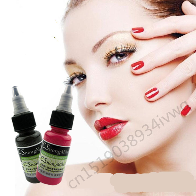 Permanent Eyebrow Tattoo Ink Professional Makeup Pigment 3D Micropigmentation Brows Ink Emulsions 14 Colors Eyebrow Makeup 35000r import permanent makeup machine best tattoo makeup eyebrow lips machine pen