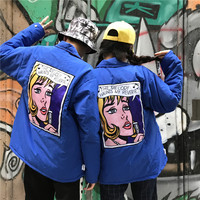 Spring And Autumn Harajuku Hong Kong Wind Loose Hip Hop Street Letters On Both Sides Wearing