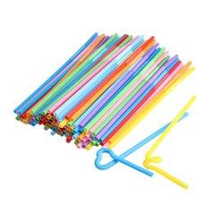 100 шт гибкие пластиковые мягкие разноцветные вечерние одноразовые соломинки для питья, детские украшения на день рождения, свадьбу