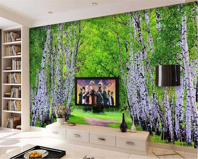 Beibehang Custom Wallpaper Natural Landscape Forest Avenue Living Room Bedroom Background Wall Decoration D Wallpaper Behang