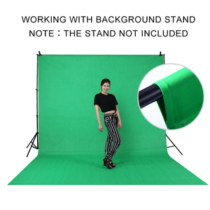 Image 5 - 2 * 3m / 6.5 * 10FT Adjustable Aluminum Photo Backrest Support Stand With Screen Chromakey Green Muslin Backdrop Background Kit