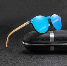 Bamboo Glasses Frame Women Sunglasses 2019 Vintage Sun For Men Round Wood Eyeglasses Goggles Gafas de