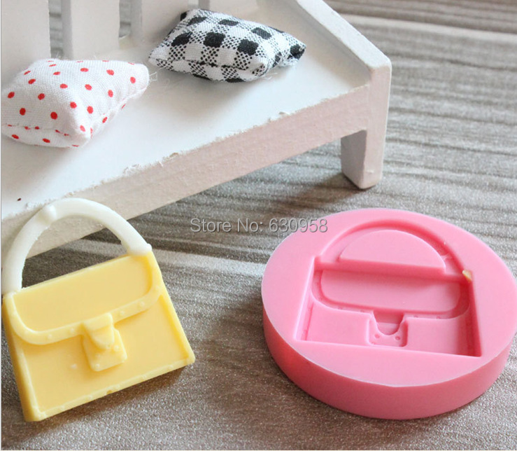 Cake Decorating Equipment Job Lot : 20 pcs/lot 100% silicone hand bag silicone mould/fondant ...