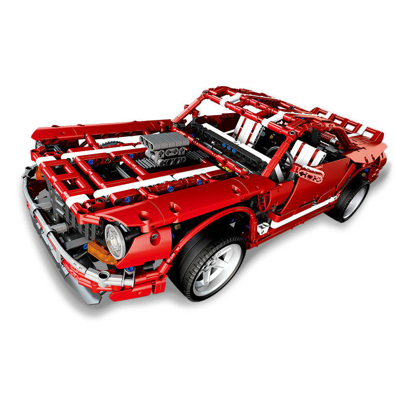 DIY Technic Creative MOC Series Muscle Car Set Educational Building Blocks Model Toy for Kids Gift Compatible with LegoinglyDIY Technic Creative MOC Series Muscle Car Set Educational Building Blocks Model Toy for Kids Gift Compatible with Legoingly