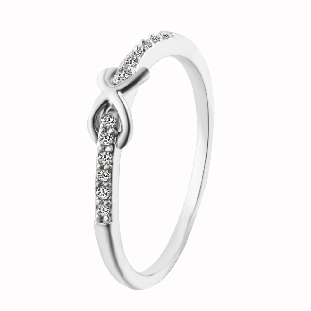 Women Crystal Infinity Symbol Love Ring Eternity Wedding Gift For Her In Engagement Rings From Jewelry Accessories On Aliexpress Alibaba