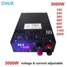 Adjustable Switching Power Supply 3000W 12v 15v 24v 36v 48v 60v 80v 110v 220v with voltage and current adjust power supply