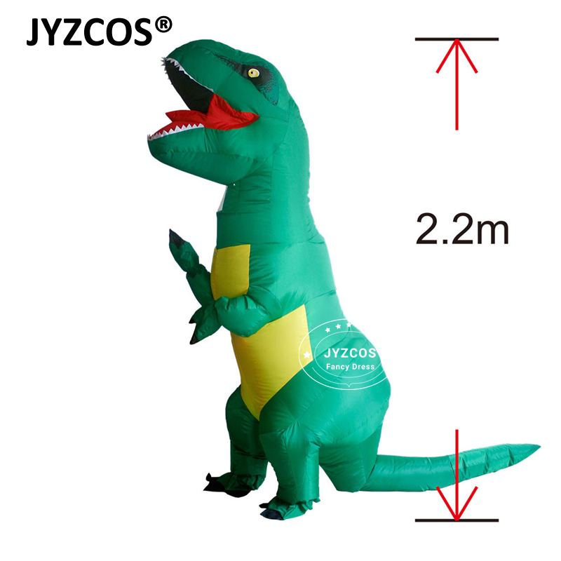 JYZCOS Costume pentru copii gonflabile TREX Costume pentru copii Dinosaur pentru bărbați Femei T Rex Jumpsuit Party Halloween Cosplay Blowup Disfraces Outfit