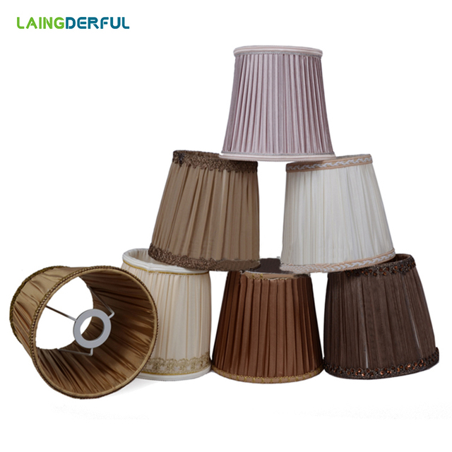 Fabric Lamp Shades Chandelier Ceilling Light Art Deco Lampshade Modern Table Wall Lamp Cover for E14 Light Shade