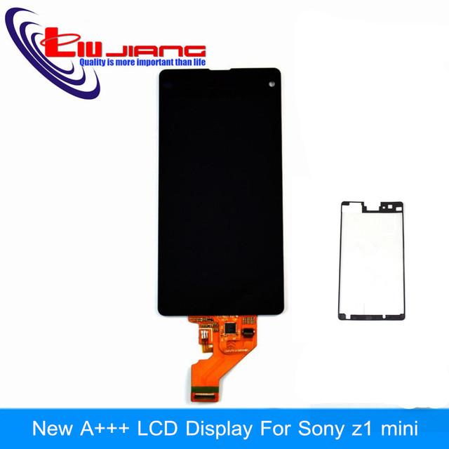 Qualidade original display lcd para sony xperia z1 mini z1 compact d5503 tela sensível ao toque de montagem digitador etiqueta adesiva