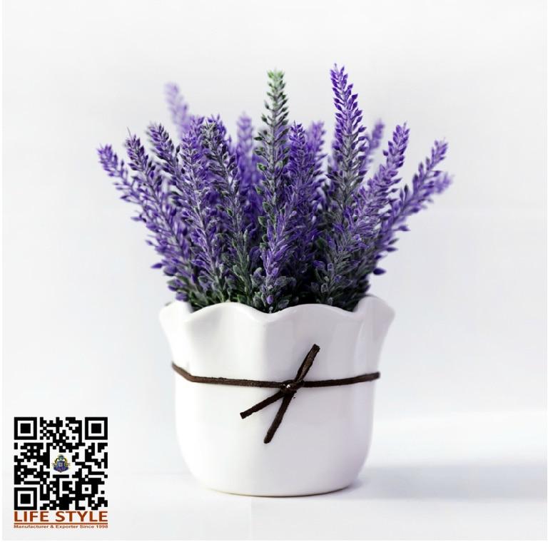 Artificial lavender flower in ceramic pot decoration silk flower artificial lavender flower in ceramic pot decoration silk flower bonsai set in artificial dried flowers from home garden on aliexpress alibaba mightylinksfo