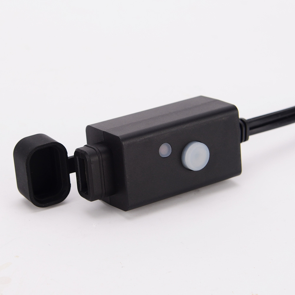 Motorcycle Usb power chaeger with fixed support Button switch SAE ...