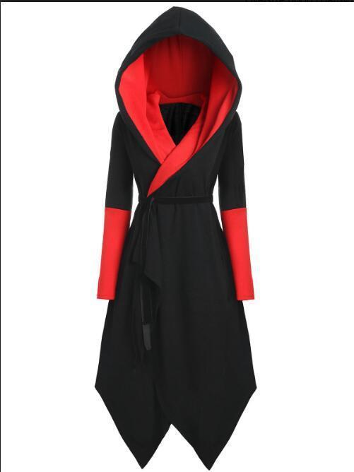 2018 ensembles transfrontaliers amazon hot style col en v rock big yards robe nouvelle robe d'hiver
