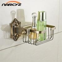 Paper Holders Antique Brass Wall Shelf Toilet Basket Towel Shampoo Bathroom Kitchen Storages Home Decorative Shelves 9132K