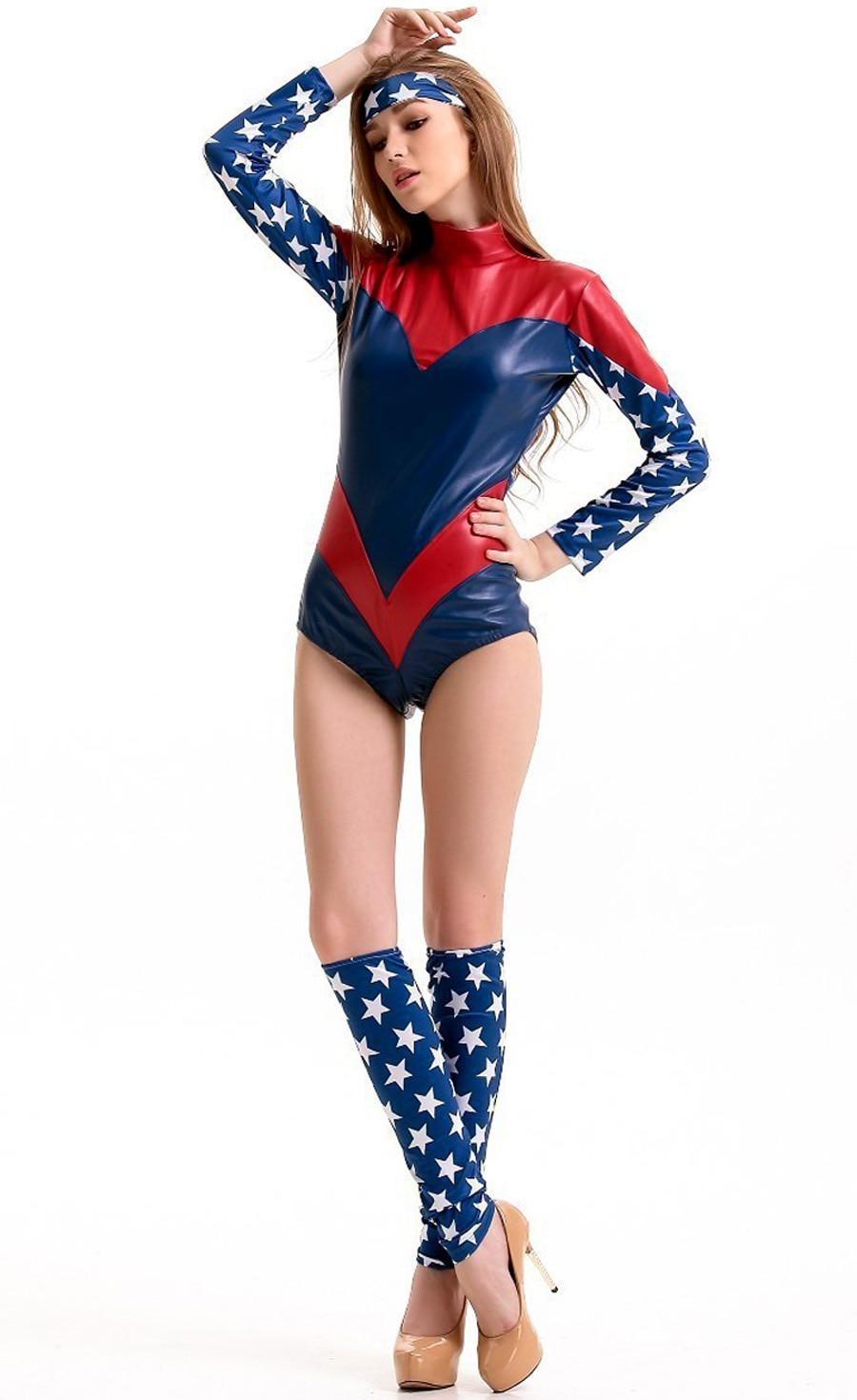 ✅new superhero captain america costume halloween costumes for women