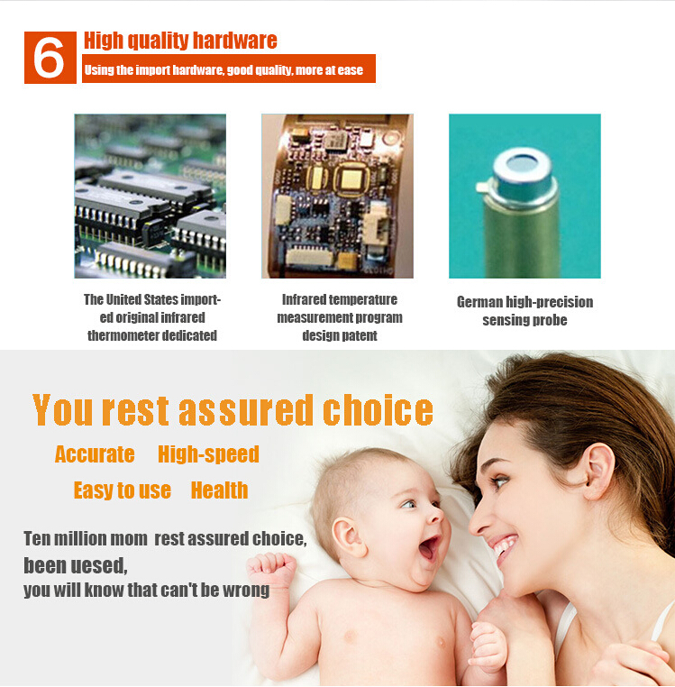 Electronic Non Contact Infrared Thermometer for Baby and Adult for Forehead and Ear Temperature Measurement 16