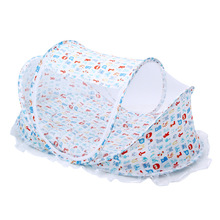 Folding Baby Crib Netting Infant Portable Soft Newborns Crib Travel Multifunctional Pillow Baby Mosquito Net