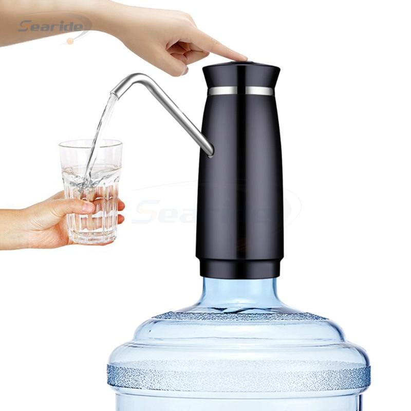 цена Portable Automatic Electric Water Pump Dispenser Gallon Drinking Bottle Switch Bucket water bottle press Pitcher For Home в интернет-магазинах