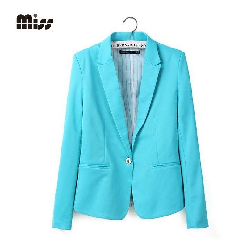 36b5df05135b MISS XXL 2015 Pink Blazer Women Office Suits Pocket Coat Autumn Ladies  Jacket Business Femme Blazers Yellow Plus Size T4B03-in Blazers from Women s  Clothing ...