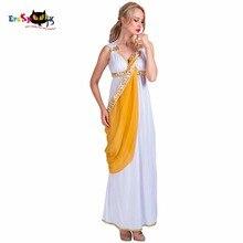 Disfraz Sexy de diosa griega romana para mujer, traje egipcio, Cosplay, Mono Blanco, vestido de fantasía para mujer, Disfraces de Halloween para adultos