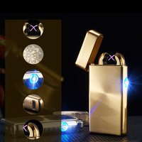 Dual Arc USB Electronic Rechargeable Lighters Cross Flameless Cigarette Lighter