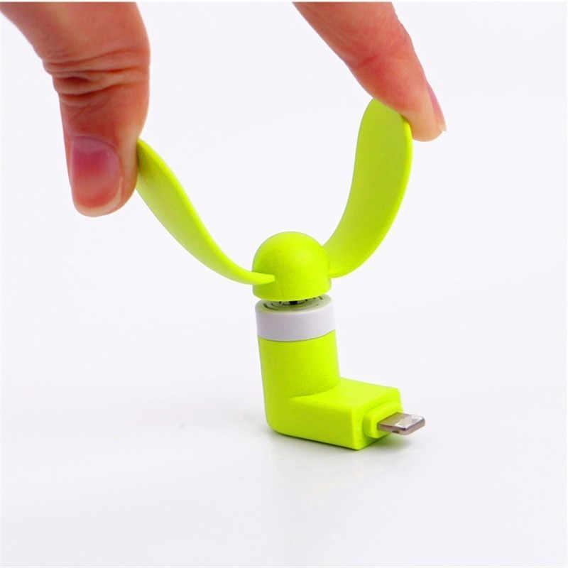 100% getestet Micro USB Flexible Mini Fans Kühler Telefon Hand Fan für Samsung Xiaomi Android Handy Fan zufällige farbe 1 stücke