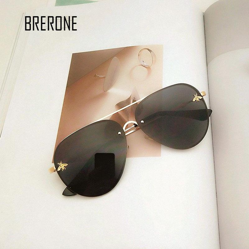 0e61625b27 Detail Feedback Questions about BRERONE 2018 New Fashion Metal Frame Small  Bee Women Sunglasses Female Sunglasses Famous Brand Designer Alloy Legs  Glasses ...