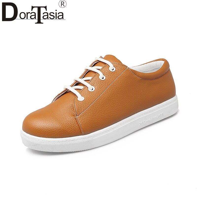 DoraTasia 2018 Spring Big Size 34-43 Fashion White Women Vulcanize Shoes Youthful School Good Quality Sneakers Women Shoes