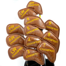 цены NEW Champkey Golf Head Cover 12PCS Golf Club Iron Putter Protector Set 2 Colors Headcover Accessory Ball Head Protective Cover