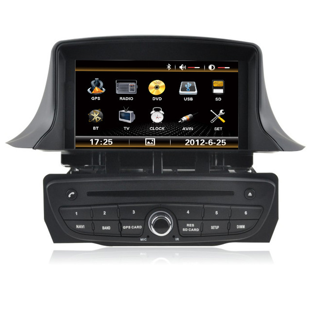 free shipping car dvd player gps navigation for renault. Black Bedroom Furniture Sets. Home Design Ideas