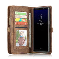 CaseMe Genuine Leather Flip Cover For Samsung Galaxy Note 8 Case Note8 Second Layer Cowhide Multifunctional