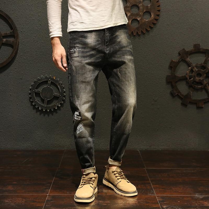 Mens Fashion Jeans 2018 Fashion Casual Cotton Boutique Haren Jeans Size 28-40