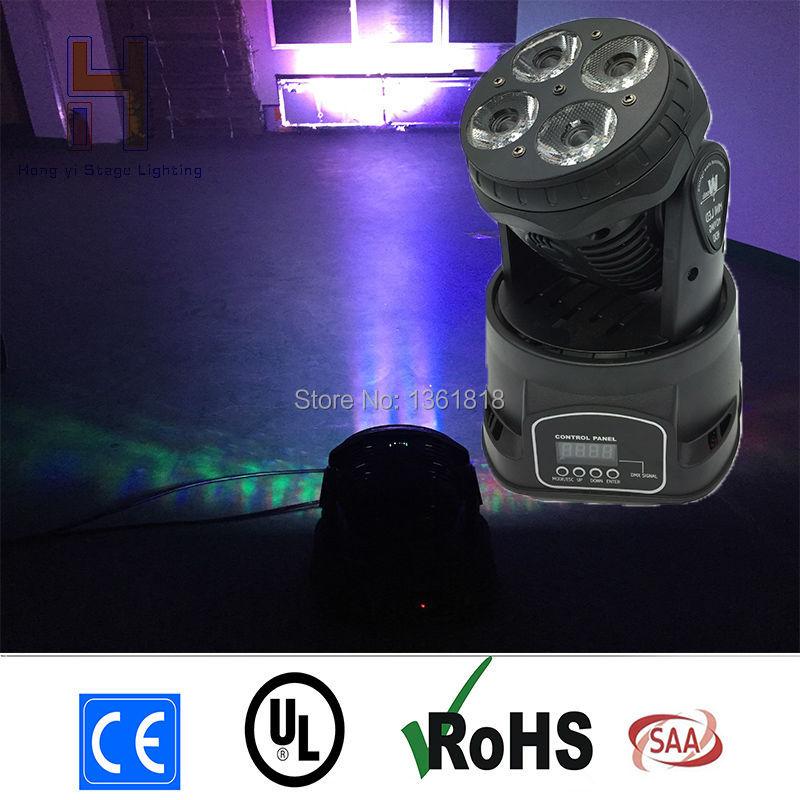 (1pcs/lot) Beam led 4x20W 4in1 RGBW LEDs LED Beam Wash Moving Head Light Super Compact For Disco DJ DMX Bar Night Club