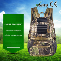 Manufacturers Supply Solar Rechargeable Backpacks Outdoor Supplies Mountaineering Bags Travel Bags Camouflage Sport