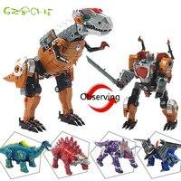 Динозавр трансформации Роботов Трансформер Игрушки для детей и юношей и Детей Фигурку Игрушечные Модели динозавров
