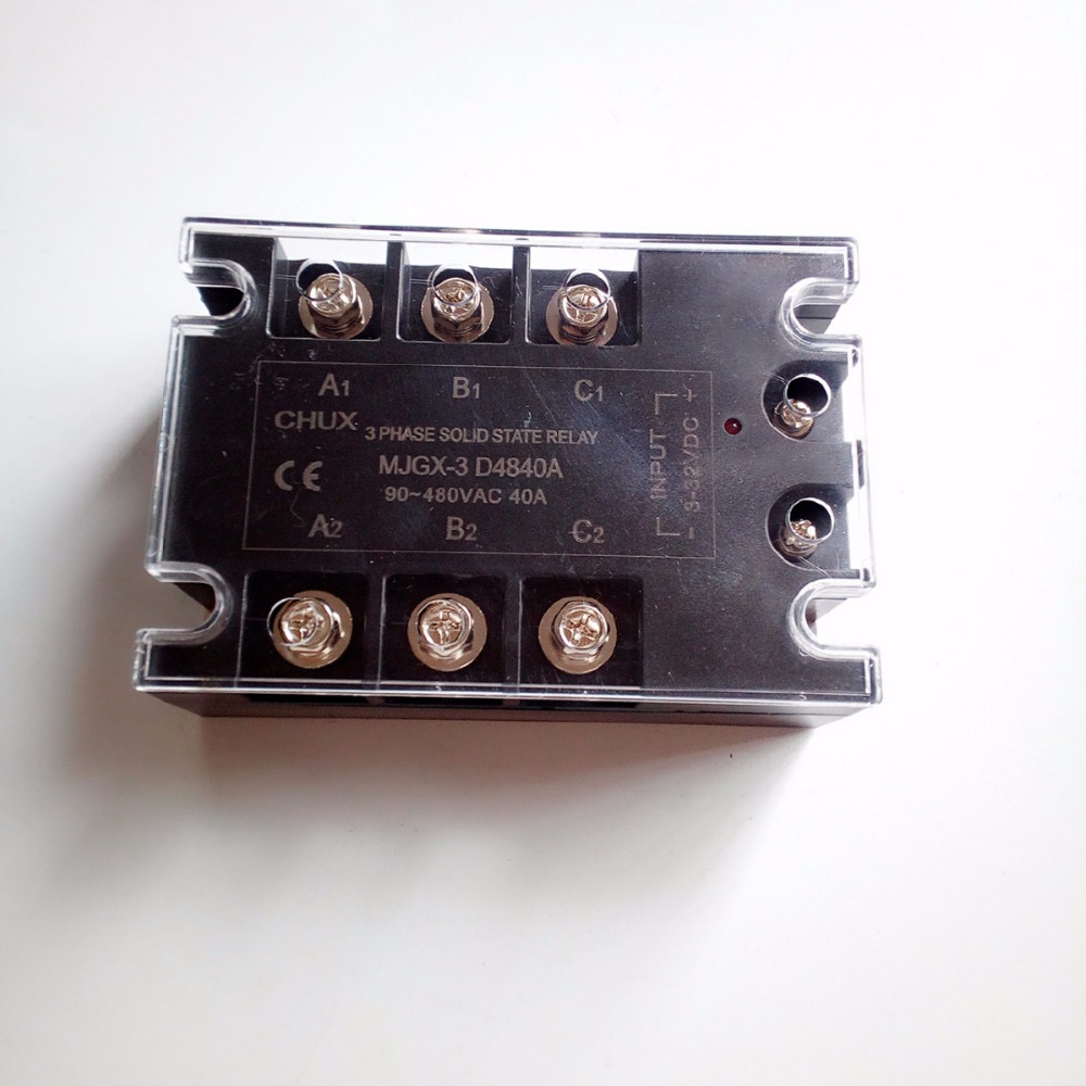 цена на 40A  three phase Solid state relay DC control AC Solid state relay  SSR 40A (MJGX-3 D4840A)