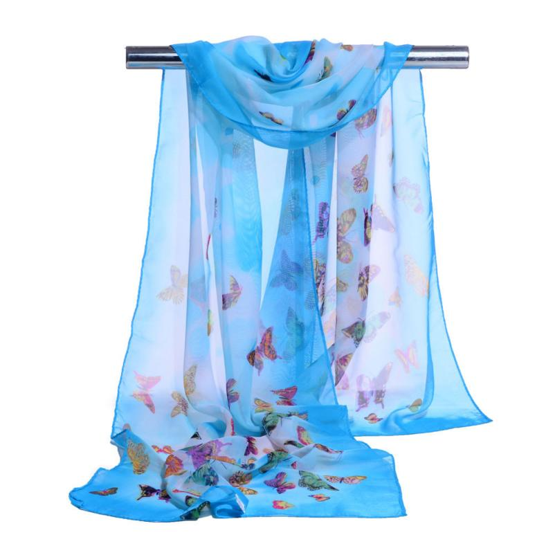 Beautiful Fashion Women Chiffon Soft Wrap Scarf Ladies Shawl Elastic Scarves Womens Neckerchief Scarves Tippet Foulards Poncho