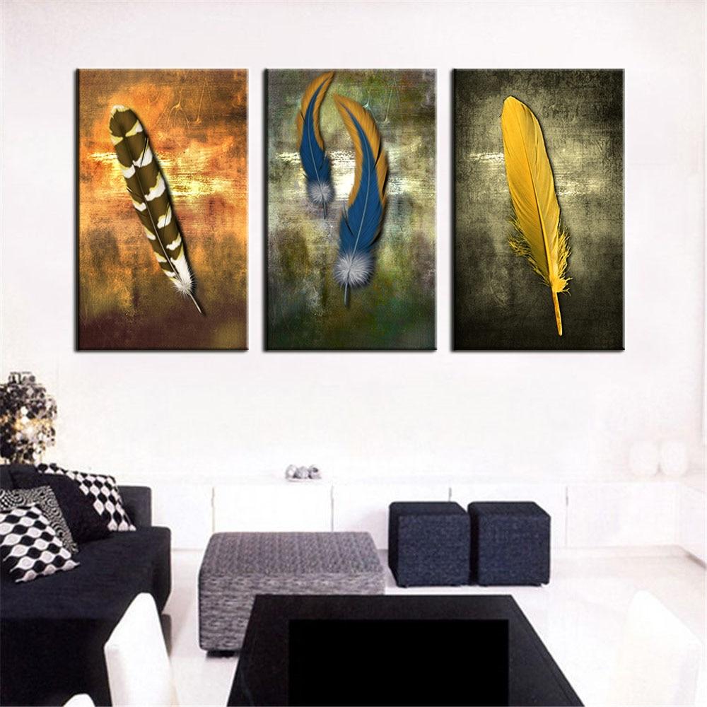 Oljemålningar på Canvas fjäder vit modern abstrakt oljemålning - Heminredning - Foto 3