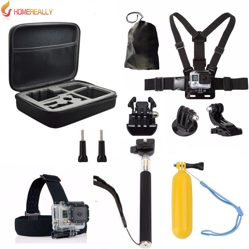 HOMEREALLY 11 in 1 Value Pack Go Pro Accessory Set For Gopro Hero 5 4 3 3 SJ4000 SJ5000 SJ6000 M10 M20 Xiaoyi SOOCOO Action Cam in Tripods from Consumer Electronics