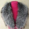 Real Silver Fox Collar Autumn Winter Woman Fox Fur Collar Scarf Collar Women'S High-End Fashion Warm Collar Free Shipping S#19