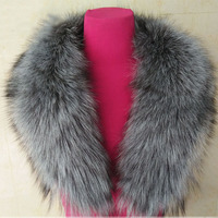 Real Silver Fox Collar Autumn Winter Woman Fox Fur Collar Scarf Collar Women'S High End Fashion Warm Collar Free Shipping S#19