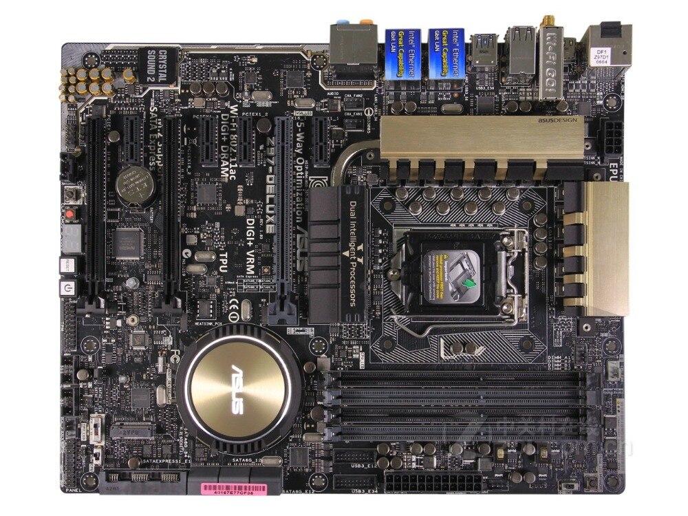 Livraison gratuite carte mère originale pour ASUS Z97-Deluxe DDR3 LGA 1150 USB3.0 USB3.1 cartes 32 GB Z97 carte mère de bureau